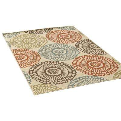 Mara Multi-Colored 5 ft. x 8 ft. Floral Indoor/Outdoor Area Rug
