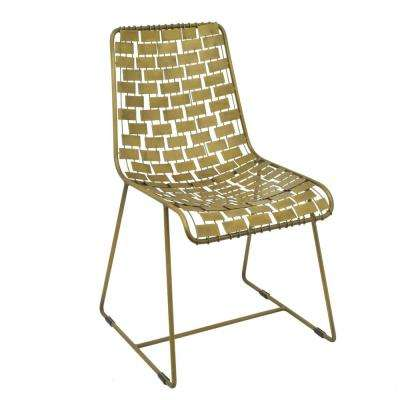 32 in. Gold Metal Side Chair