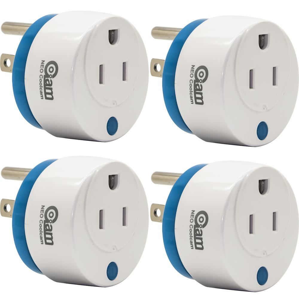 Coolcam World's Smallest Z-Wave Plus Power Plug On/Off Smart Module (4-Pack)