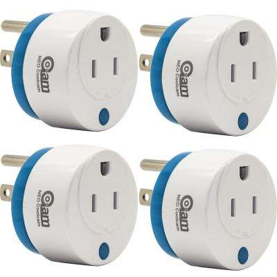 World's Smallest Z-Wave Plus Power Plug On/Off Smart Module (4-Pack)