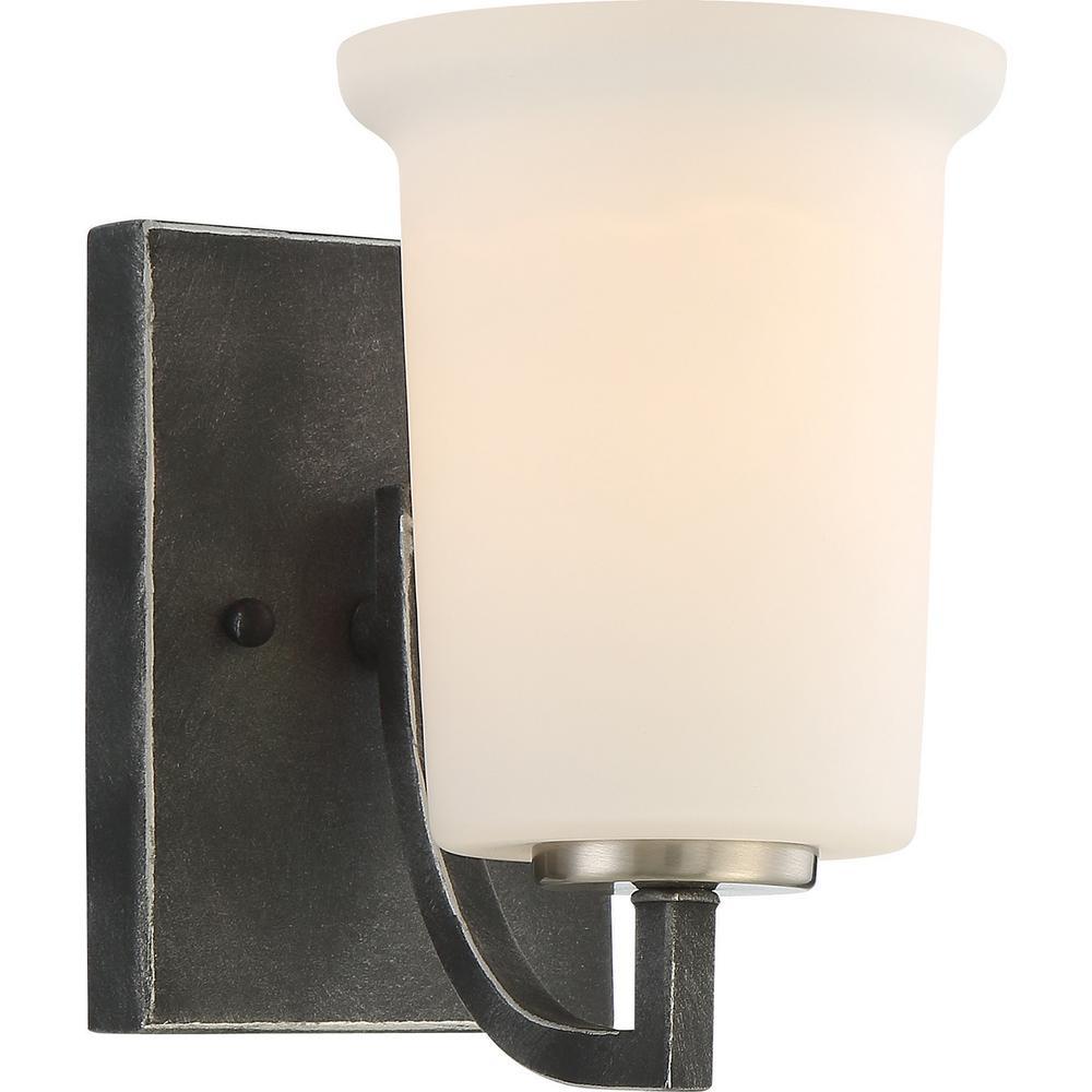 1-Light Iron Black Bath Light