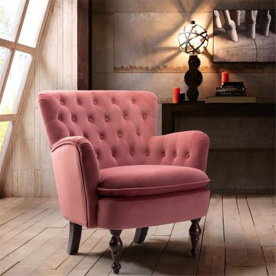 Rosewood Antique Accent Single Sofa Comfy Upholstered Arm Chair with Cushion