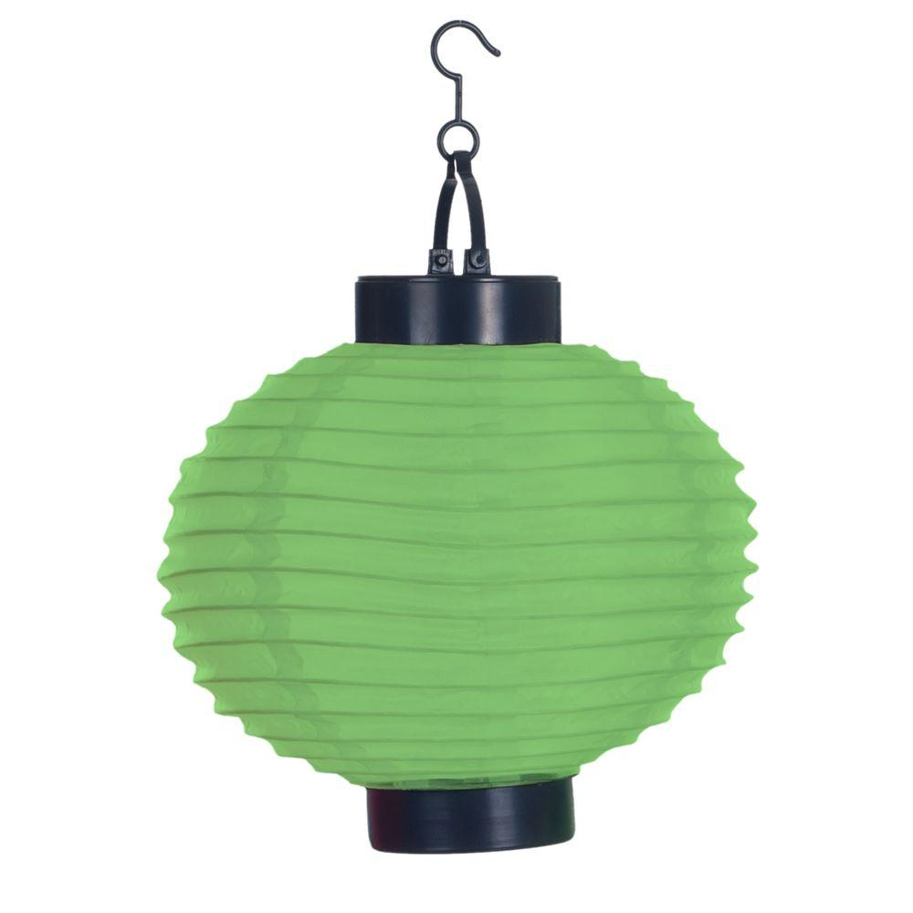 Porch Light Green: Pure Garden 4-Light Green Outdoor LED Solar Chinese