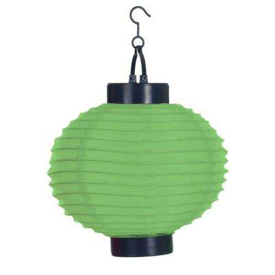 4-Light Green Outdoor LED Solar Chinese Lantern