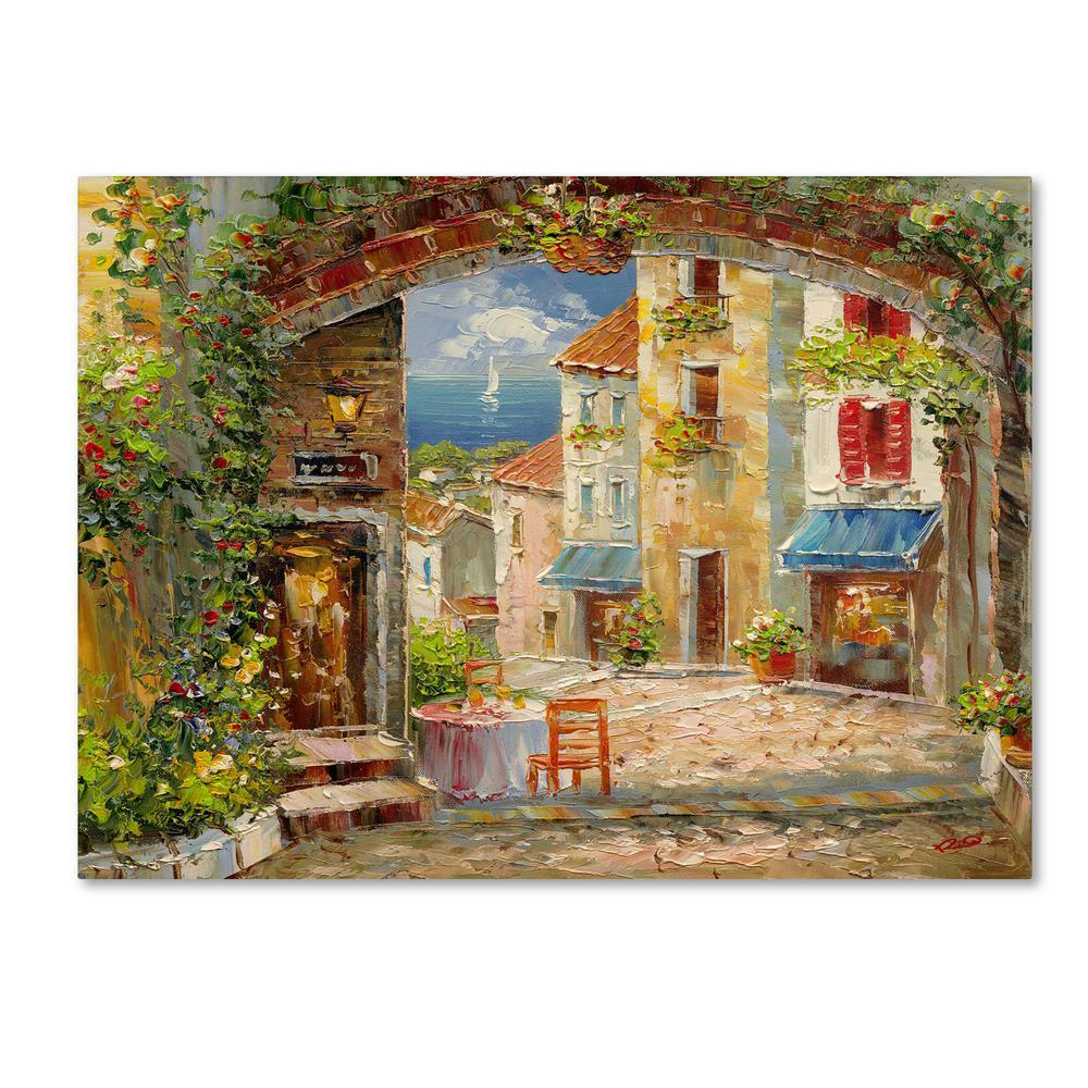 "35 in. x 47 in. ""Capri Isle"" by Rio Printed Canvas Wall Art"