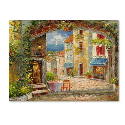 "35 in. x 47 in. ""Capri Isle"" by Rio Printed Canvas Wall Art"