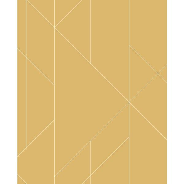 Torpa Mustard Geometric Strippable Wallpaper (Covers 56.4 sq. ft.)