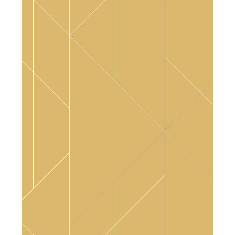 Torpa Mustard Geometric Mustard Wallpaper Sample