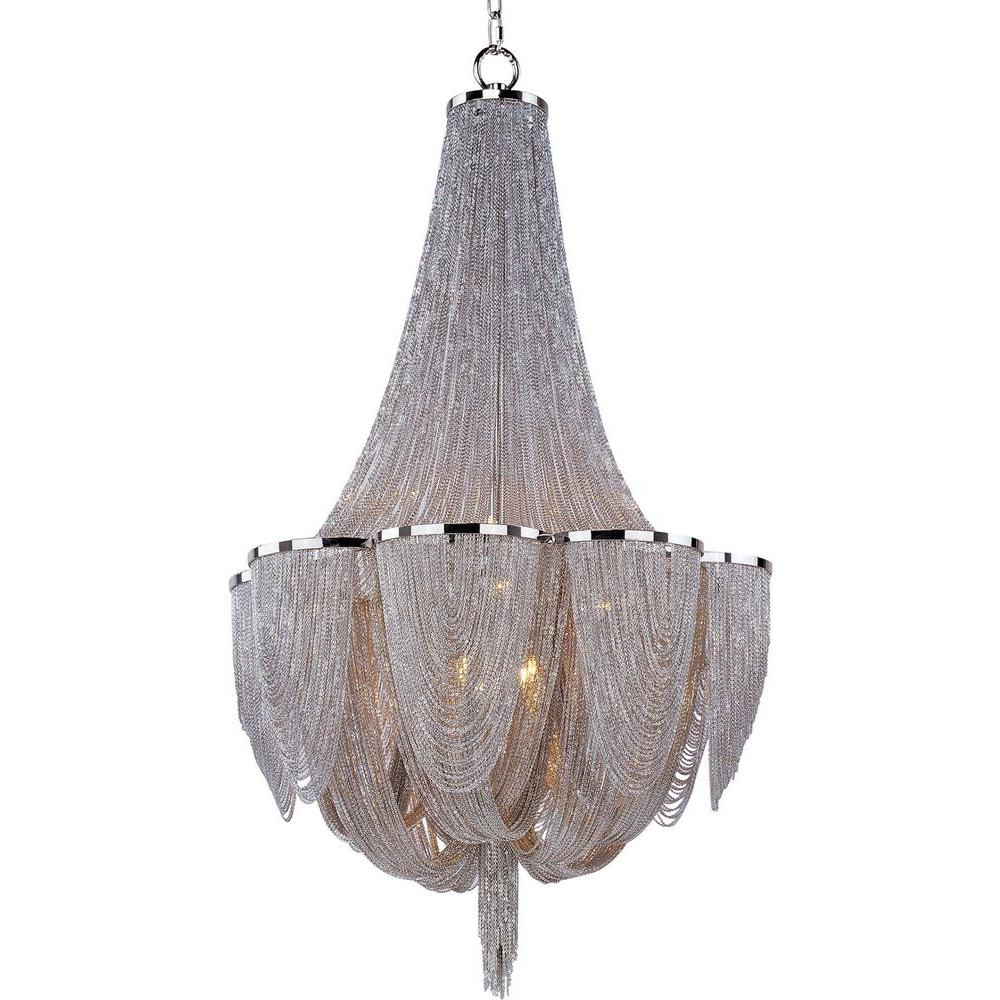 Maxim Lighting Chantilly 10 Light Polished Nickel Chandelier