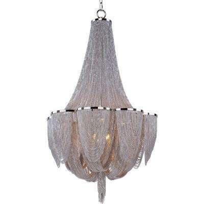 Chantilly 10-Light Polished Nickel Chandelier