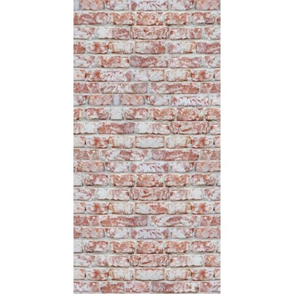 CGSignLab Red Rustic Brick by Raygun Removable Wallpaper Panel