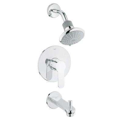 Eurostyle Cosmopolitan 2-Spray Showerhead and Tub Spout Combo Kit in StarLight Chrome (Valve Not Included)