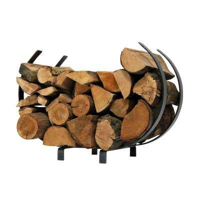 Handcrafted Indoor/Outdoor Large U Shaped Firewood Rack Textured Bronze