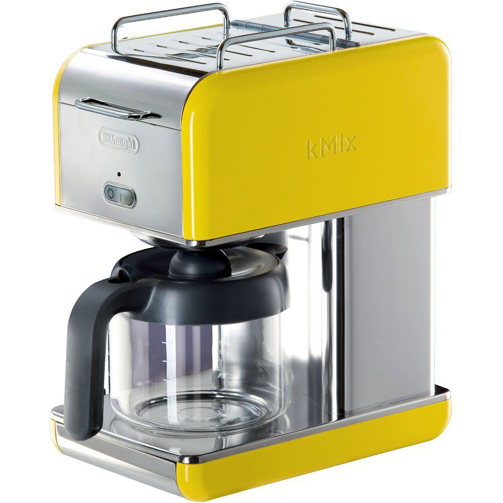 DeLonghi kMix 10-Cup Coffee Maker in Yellow-DISCONTINUED