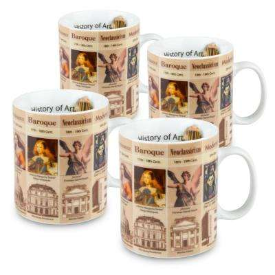 Konitz 4-Piece Mugs of Knowledge History of Art Porcelain Mug Set