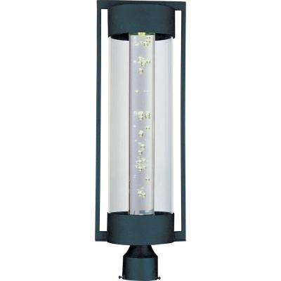 New Age LED Textured Ebony Outdoor Pole/Post Mount