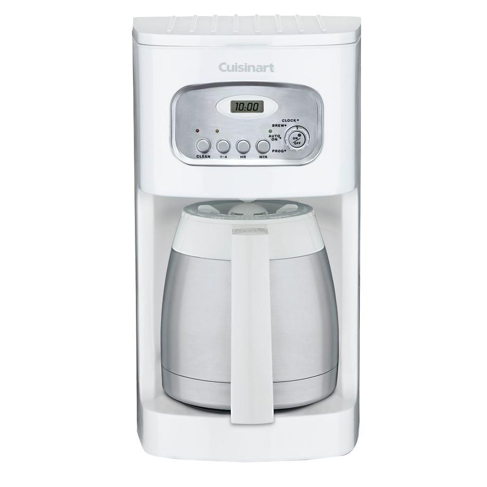 Cuisinart 10-Cup Thermal Programmable Coffeemaker in White-DISCONTINUED