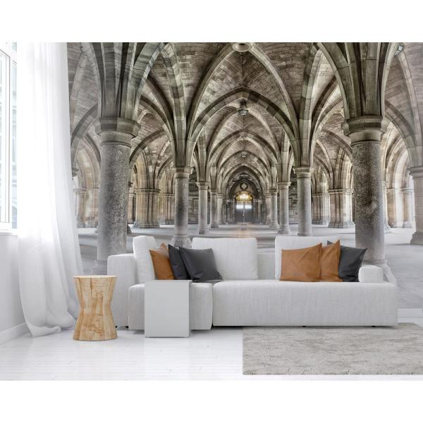 Wall Rogues Gothic Arches Wall Mural Wr50556 The Home Depot