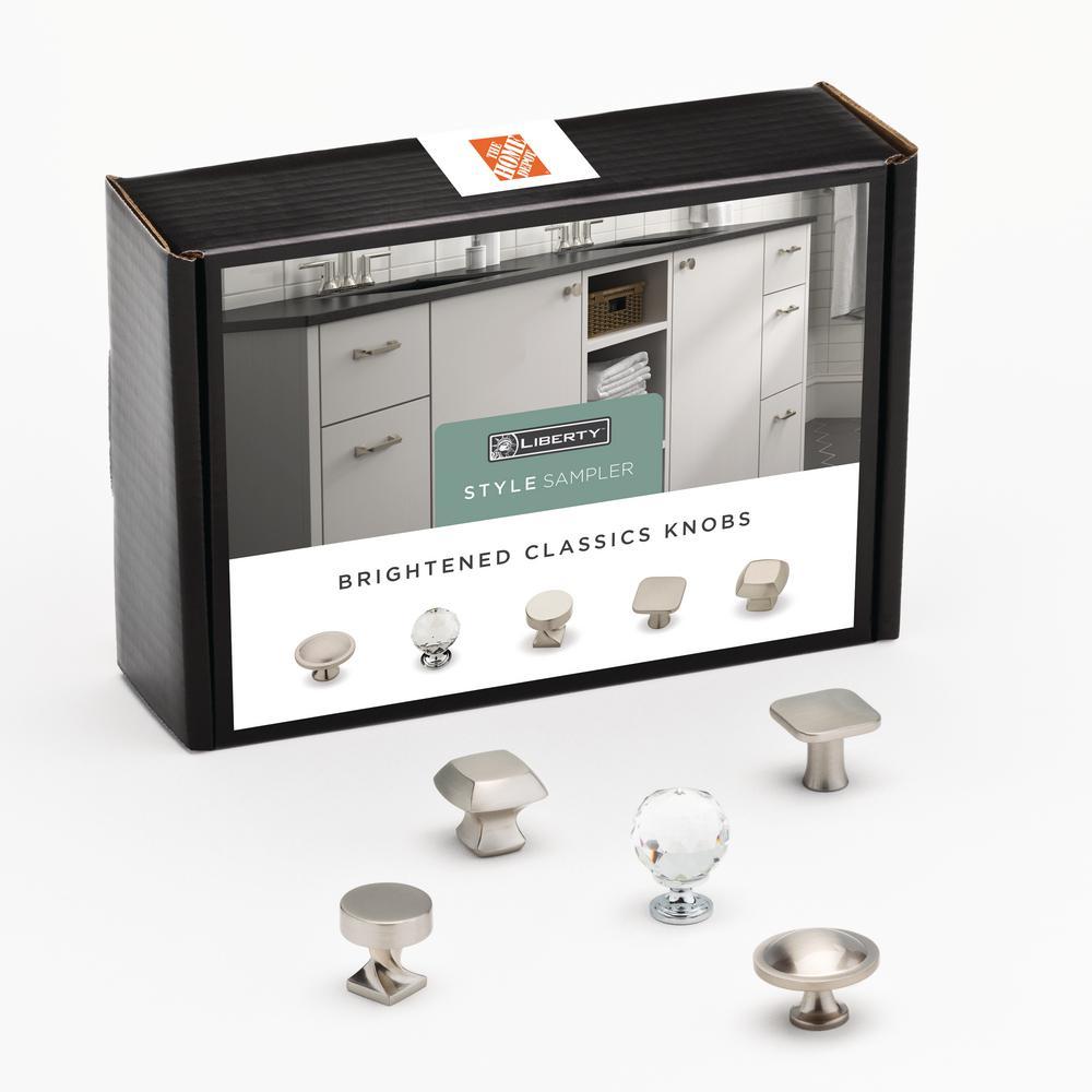 Brightened Classics Cabinet Knob Sample Box (5-Pack)