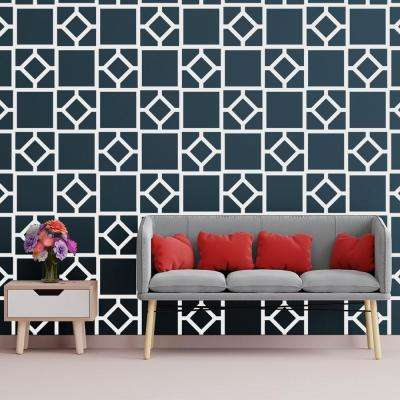 3/8 in. x 27-1/2 in. x 15-3/4 in. Medium Arcadia White Architectural Grade PVC Decorative Wall Panels