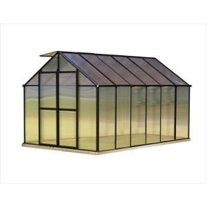 Monticello 8 ft. x 12 ft. Black Greenhouse by Monticello