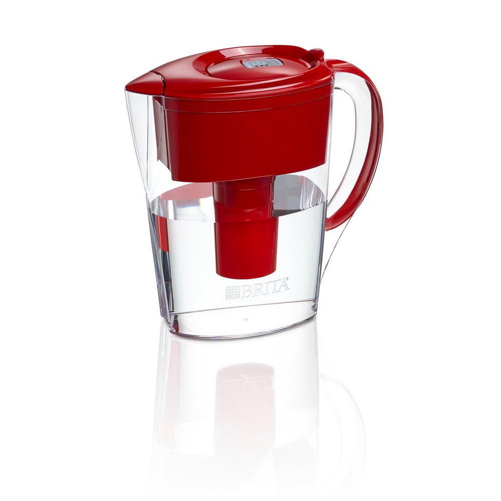 6-Cup Filtered Water Space Saver Pitcher in Red