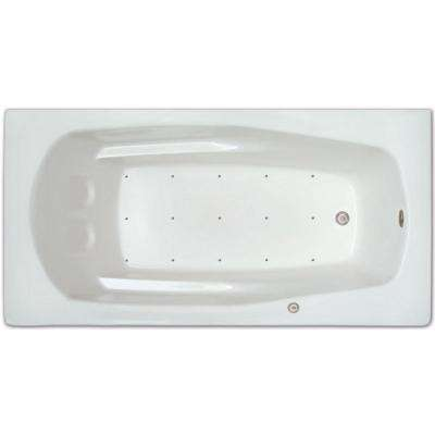 5-1/2 ft. Right Drain Drop-in Rectangular Whirlpool and Air Bath Tub in White