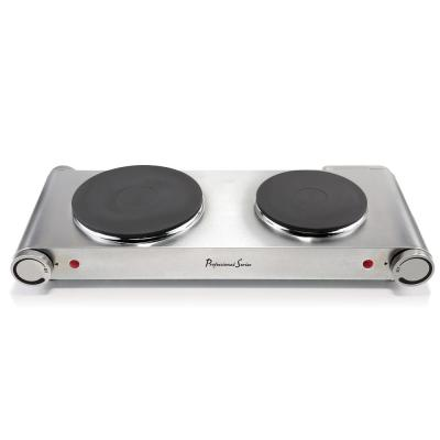 """Electric 6"""" Double Burner Hot Plate Stainless Steel"""