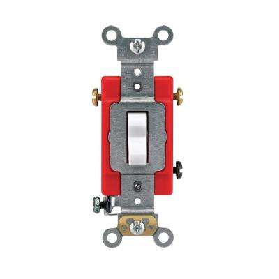 15/20 Amp 3-Way Industrial Toggle Switch, White