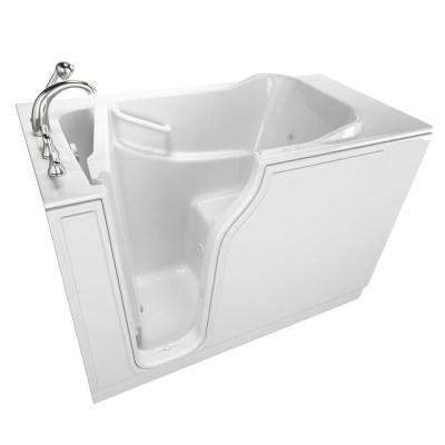 Gelcoat Entry Series 52 in. x 30 in. Left Hand Walk-In Jet and Air Bathtub in White