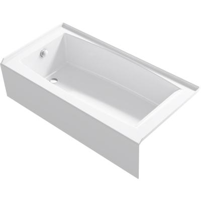 Elmbrook 60 in. Left Drain Rectangular Alcove Bathtub with Integral Apron in White