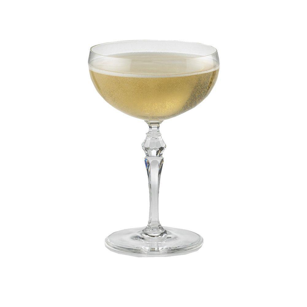 Fresh Wine Enthusiast 8.75 oz. Fusion Deco Champagne Coupe Glasses-740  XI57