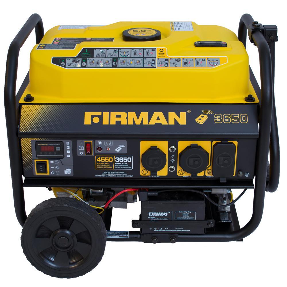 Firman Power Equipment PO3608 Gas Powered 3650/4550-Watt Portable Remote Start... by Firman