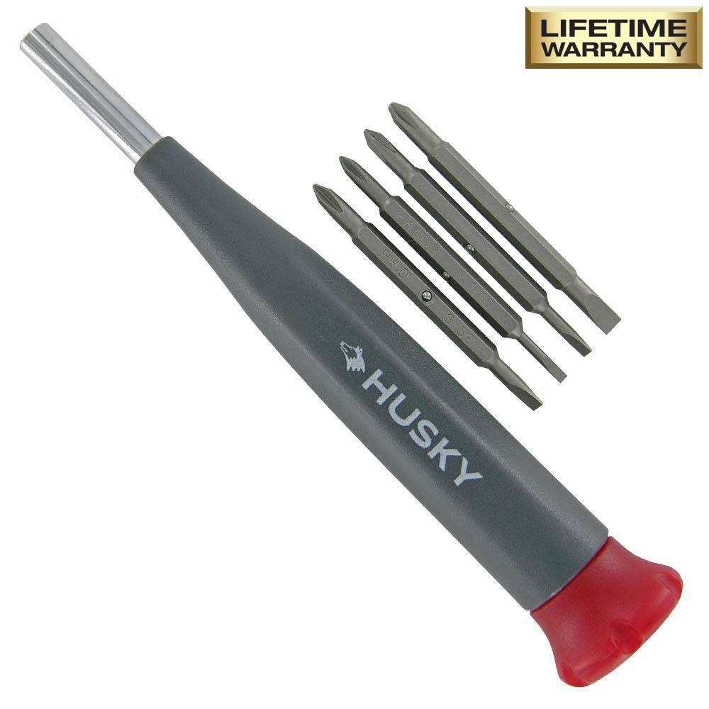 Husky 8-in-1 Philips and Slotted Screwdriver Set