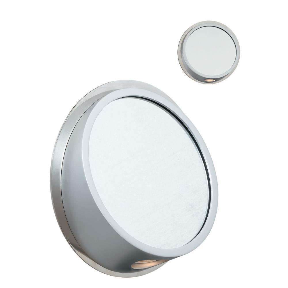 1-Light Polished Nickel Sconce