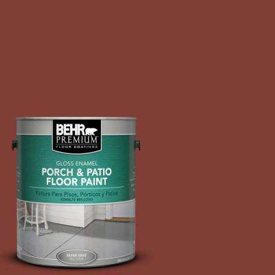 1 gal. #S160-7 Red Chipotle Gloss Interior/Exterior Porch and Patio Floor Paint