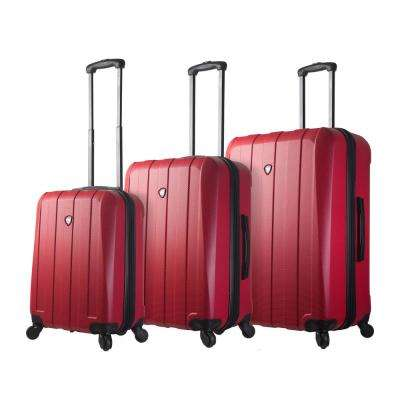 Tosetti 3-Piece Red Hard Side Spinner Luggage Set