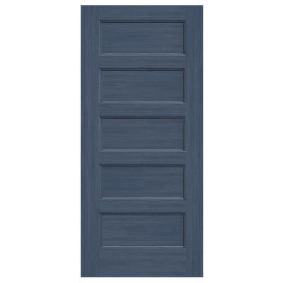 36 in. x 80 in. Conmore Denim Stain Smooth Hollow Core Molded Composite Interior Door Slab