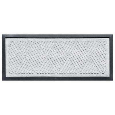White 15 in. x 36 in. Diamonds Boot Tray