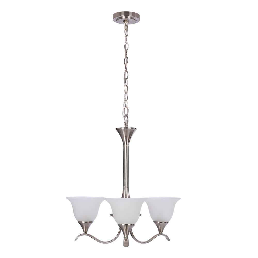 Hampton bay nove 5 light brushed nickel chandelier with white glass santa rita 5 light brushed nickel chandelier with glass shades arubaitofo Image collections