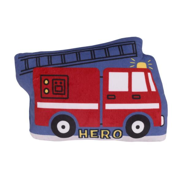 Firetruck Red, White, & Blue 4 in. L x 9.5 in. W Decorative Throw Pillow