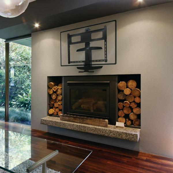 Manhattan 40 In To 70 Above, Flat Wall Fireplace