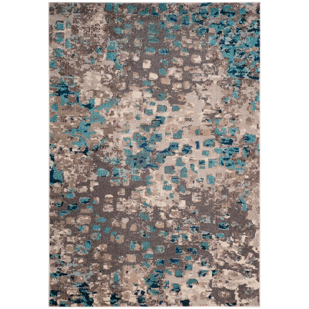 Safavieh Monaco Gray Light Blue 4 Ft X 6 Area Rug