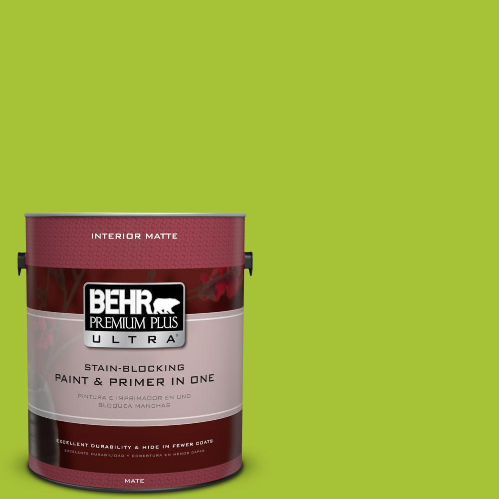 BEHR Premium Plus Ultra 1 gal. #S-G-410 Green Crush Flat/Matte Interior Paint