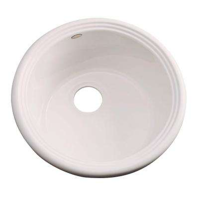Hampton Drop-In Acrylic 18 in. Single Bowl Entertainment Sink in Natural