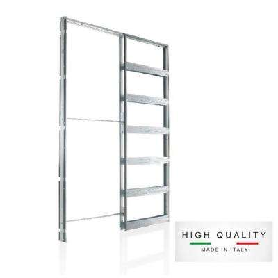 Eclisse 24 in. x 96 in. Steel Single Pocket Door Frame System