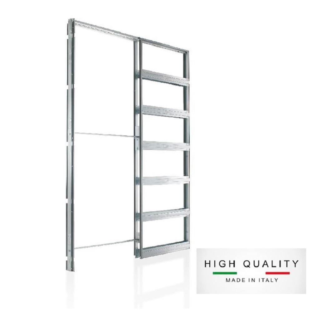 Eclisse 32 in. x 96 in. Steel Single Pocket Door Frame System