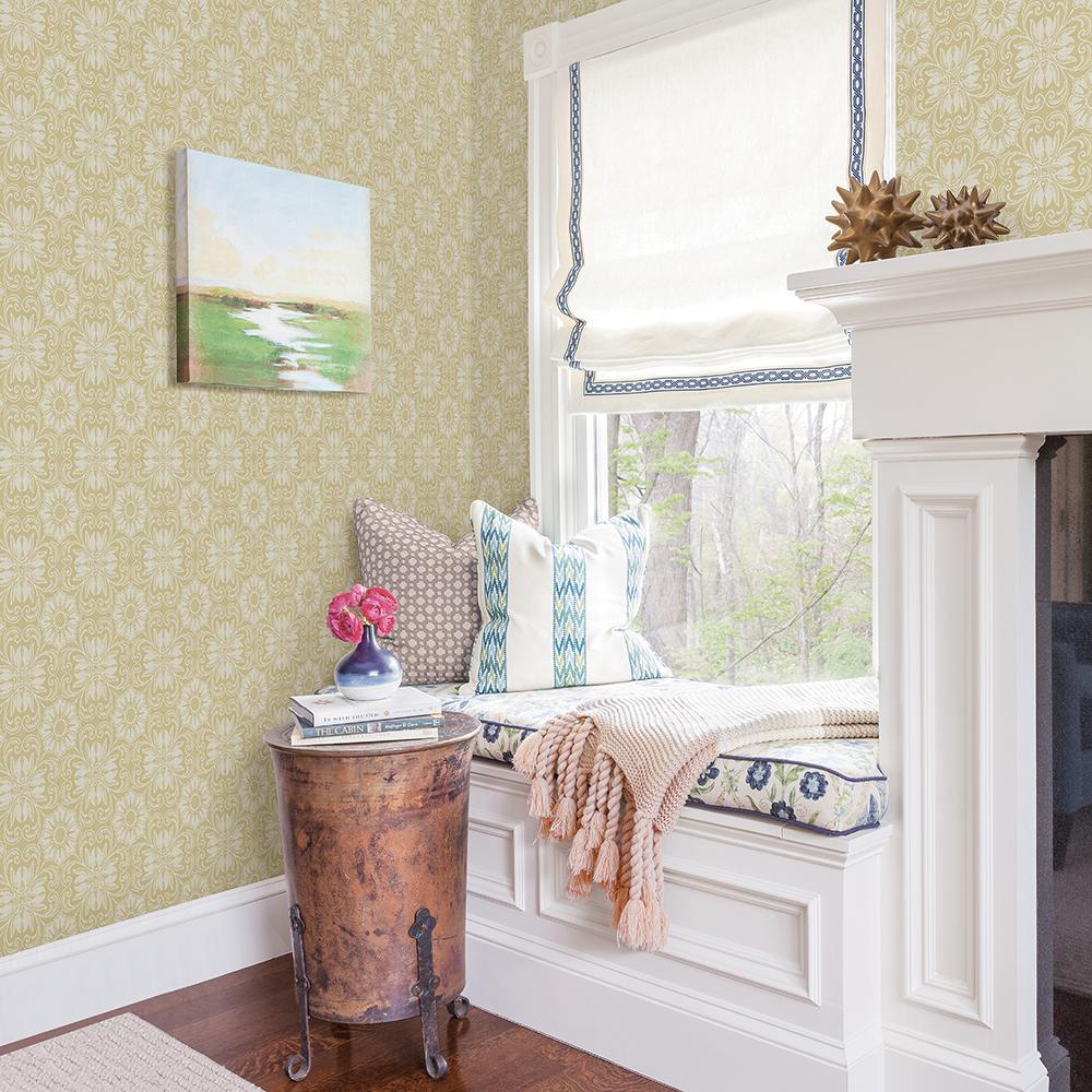 Chesapeake Hessle Yellow Floral Wallpaper Sample