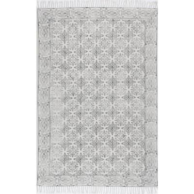 Kristina Moroccan Off White 8 ft. x 10 ft. Area Rug
