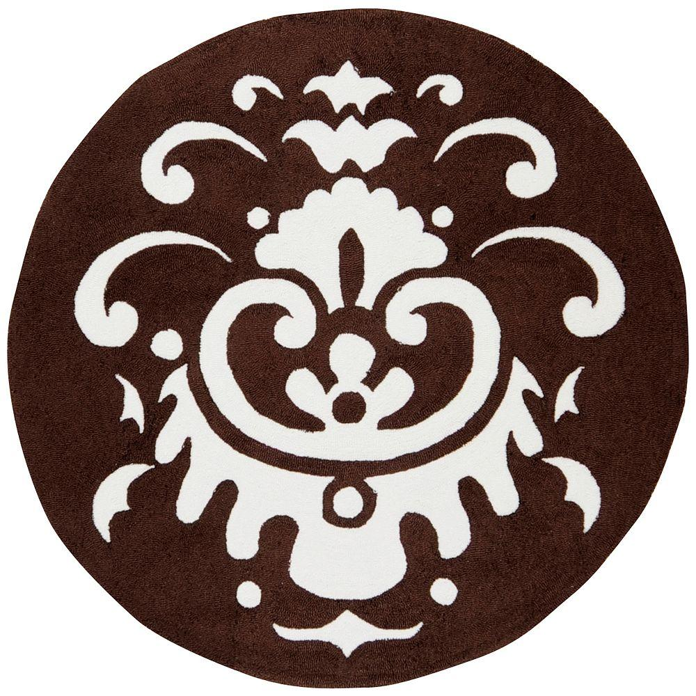 Artistic Weavers Ben Chocolate Polyester 6 ft. Round Area Rug-DISCONTINUED